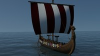 3d viking drakkar model