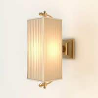 3d baker lyre sconce model