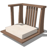 3d model oriental chair design