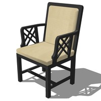 3d model oriental chair design