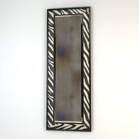 eichholtz mirror zebra 220x80cm 3d model