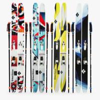 black diamond skis 3d model