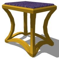 vanity chair design 3ds