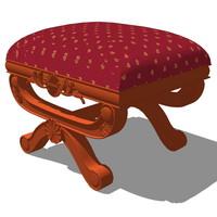 3d vanity chair design model