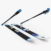 3d model ski diamond