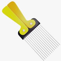 3d model afro comb