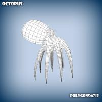 base mesh octopus 3d model