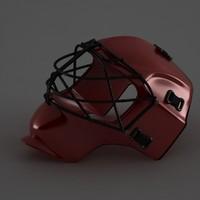 3d hockey mask model