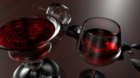 realistic chalice crystal wine 3d ma