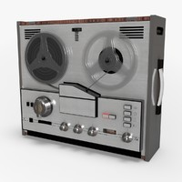 retro reel tape recorder 3d c4d