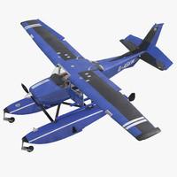 cessna 172 blue seaplane 3d max