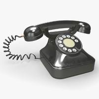 3d max retro rotary telephone