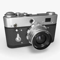 3d retro photo camera model