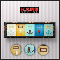hangers kare design coat rack 3d 3ds