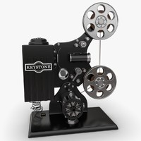 keystone film projector 3d model