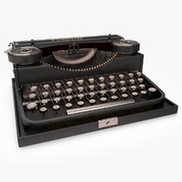 retro typewriter 3d c4d