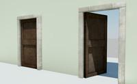 3d working door model