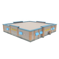 3d model commercial retail building
