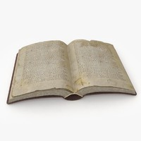 old book bible 3d max