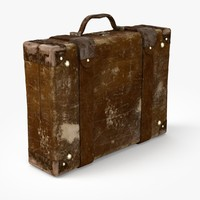 old retro suitcase 3d c4d