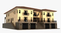 3d luxury villa model