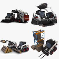 3d bobcat grapple trunk model
