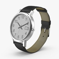 3d model men s wrist watch