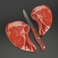 beef knife 3d model