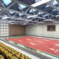 athletics gym interior obj