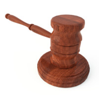wooden gavel soundboard 3d obj