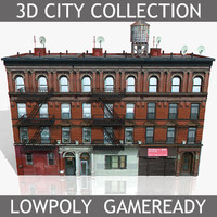 3d new york brick house