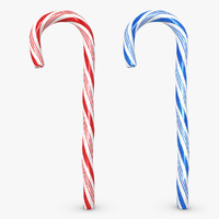 3d max candy cane 2 colors