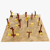 Outdoor fitness gym equipment  set 2