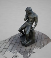 man seated 3d model