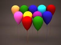 free balloons helium 3d model