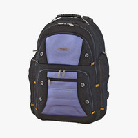 3d model backpack 2 blue