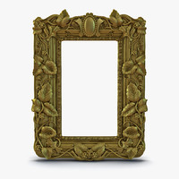 baroque picture frame 3 max
