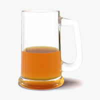 3d half beer mug model