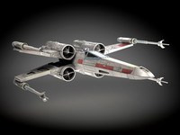 3d model of star wars x-wing