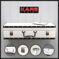 3d max wall shelf suitcase kare