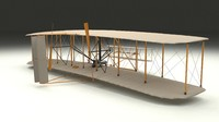 rigged wright flyer 3d model