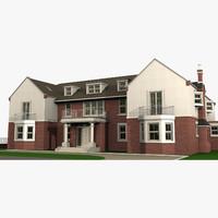 3d british house model