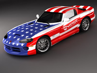 3d dodge viper gts sports car model