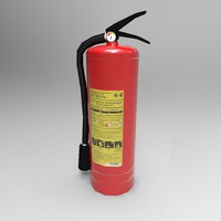 3d model extinguisher ready