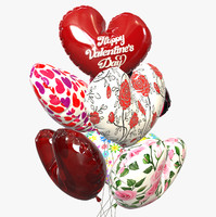 3d baloons balloon model