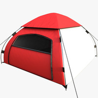 realistic camping tent 3d model