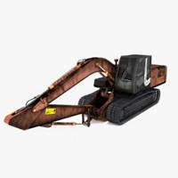 3d excavator tractors model