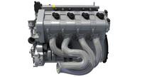 v engine 3d model