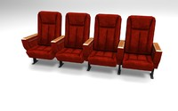 Cinema Chairs (Game ready low poly)