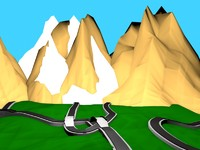 Low poly game environment (Road map)